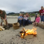 A roasty toasty campfire on the beach!